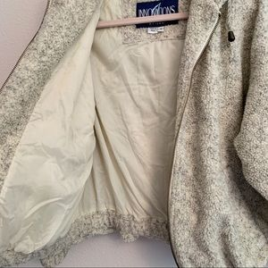 Vintage Jackets & Coats - Faux shearling zip up hoodie